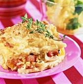 Baked Macaroni with Tomatoe