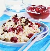 Cherry risotto with crunchy breadcrumbs