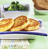 Quark pancakes with kale
