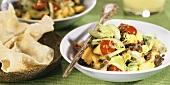 Linsensalat mit Ananas