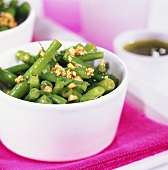 Green bean salad with sesame and coriander