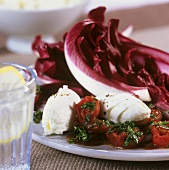 Grilled tomatoes with ricotta
