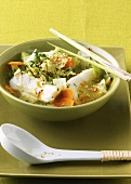 Asian fish soup with vegetables