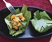 Homognomai (Bambuspäckchen mit Kürbis, Thailand)