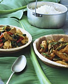 Chicken with panaeng paste (Thailand)