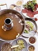 Vinegar fire pot (fondue, Vietnam)