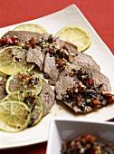 Bo Xao (Beef with citrus fruit sauce, Vietnam)