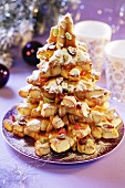 Fir tree made from pastries