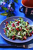Rocket and red kidney bean salad