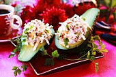 Avocado stuffed with poultry salad