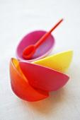 Several coloured bowls