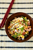 Fried rice with sweetcorn and spring onions (China)