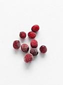 Mehrere gefrorene Cranberries