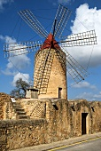 An old romantic windmill in Majorca