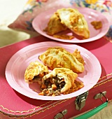 Mince pasties with cheese for children