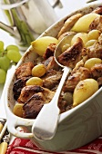 Pork stew with grapes