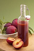 Spicy plum sauce in bottle