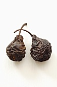 Two dried pears