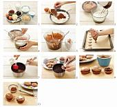 Making chocolate macarons