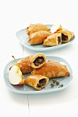 Black pudding and apple pasties with yeast pastry