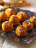Carrot croquettes with sesame seeds and poppy seeds (Christmas)