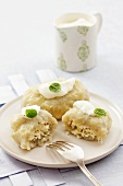 Potato dumplings with quark filling