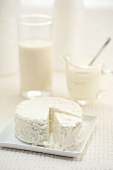Cottage cheese, milk and sour cream