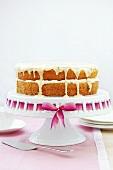 Sponge cake with passion fruit cream