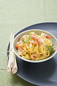 Tagliatelle with crayfish and lemon grass