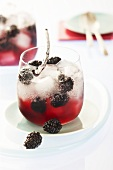 Apple, blackberry and vanilla punch