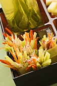 Vegetable sticks in bento box
