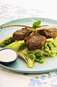Lamb chops with chermoula on vegetables (North Africa)