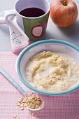 Porridge with apple and banana puree