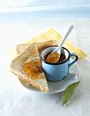 Toast and orange marmalade