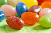 Coloured jelly beans (close-up)