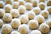 White chocolate coconut rum truffles