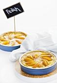 Two peach tarts