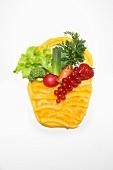 Basket made from vegetables