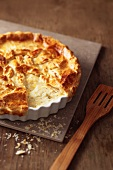 Chicory pie in baking dish