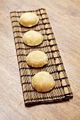 Palm sugar on bamboo mat