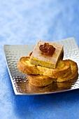 Foie gras on slices of brioche