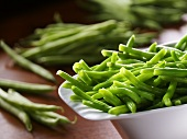 Blanched French beans