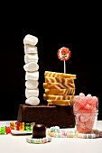 Still life with cakes and sweets