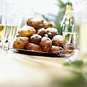 Oliebollen (deep fried New Year's pastries, Netherlands)