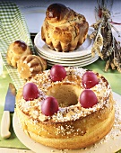 Easter bread (Greece) brioches (France)
