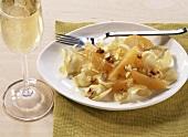 Chicory salad with orange segments and walnuts