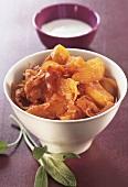 Potato goulash Szegedin style with sauerkraut