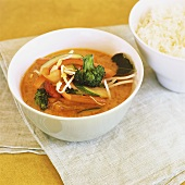 Vegetable curry with rice (Thailand)