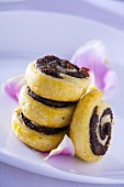 Poppy seed and raisin pinwheels