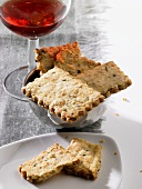 Rosemary biscuits with red wine